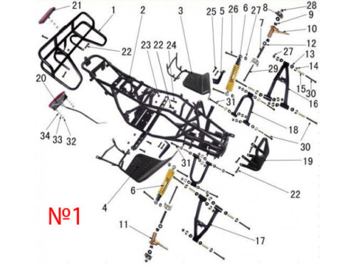ЗАПЧАСТИ НА ATV SPIDER 110CC (ПОДБОР ПО СХЕМЕ)